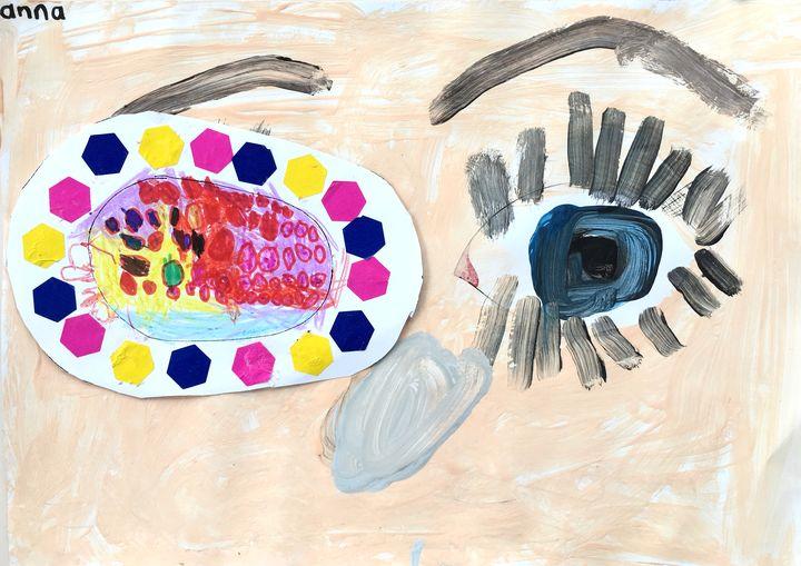 oogpleister maken voor een lui oog, kleuteridee, thema het oog 2
