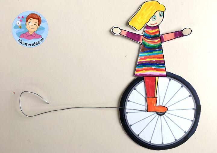 Eenwieler knutselen, thema de fiets, kleuteridee