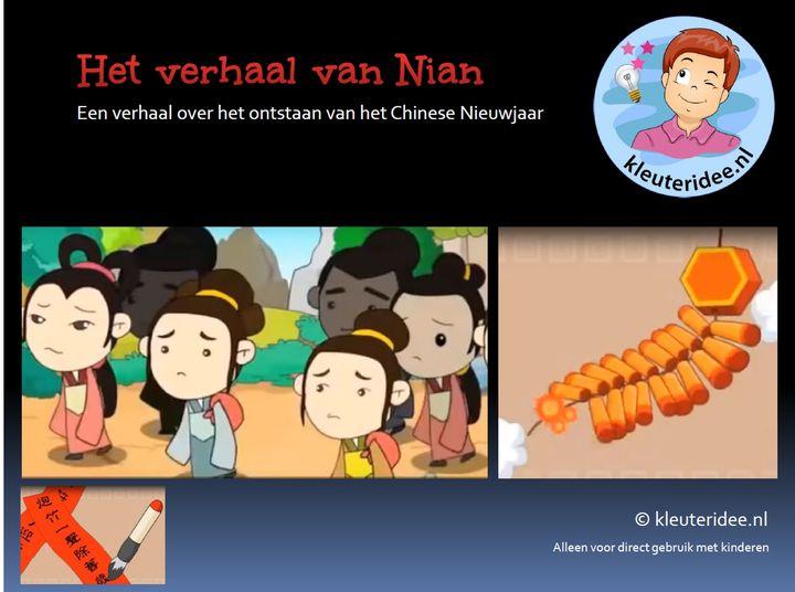 Het verhaal van Nian, over de oorsprong van het Chinese Nieuwjaar, verhaal voor kinderen, kleuteridee.nl