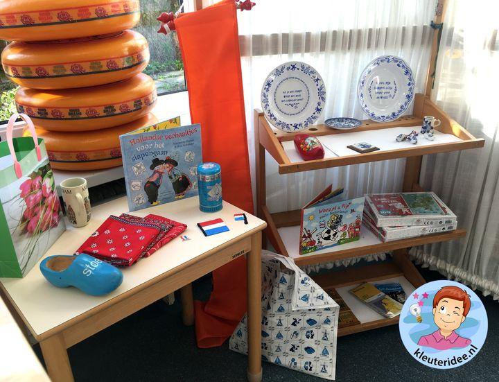 souvenirwinkel rollenspel themahoek Nederland, kleuteridee, thema Nederland met kleuters