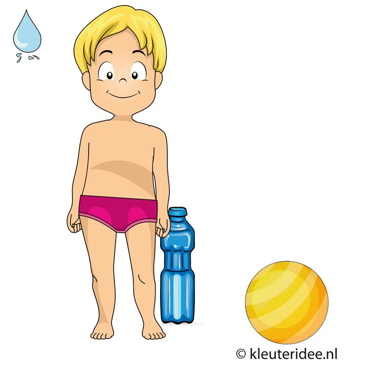 Waterspelletjes voor kleuters, kleuteridee , spel 11, flessenbal