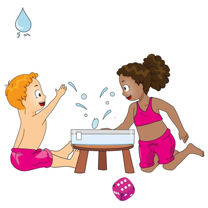 Zes, splash!, waterspelletjes, kleuteridee