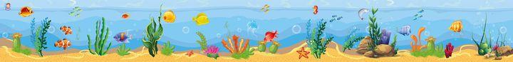 Diepzeeachtergrond kleuteridee speelmat