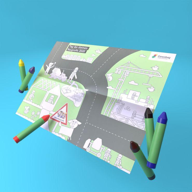GEWOBAG Ausmalgrund Stifte 3D