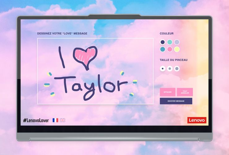 Lenovo Messages for Taylor Swift interface