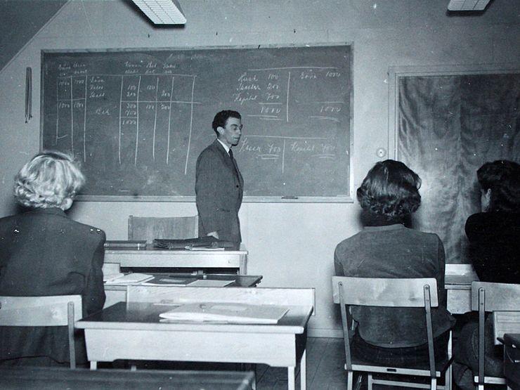 Liljeholmen 50-tal klassrum