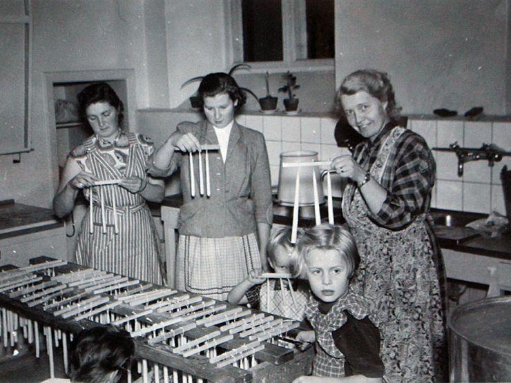 Liljeholmen 50-tal ljusstöpning