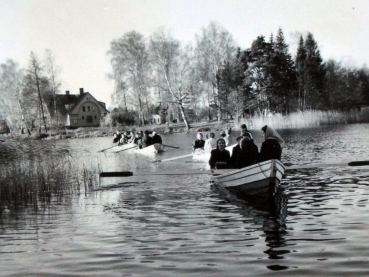 Liljeholmen 50-tal roddbåt Åsunden