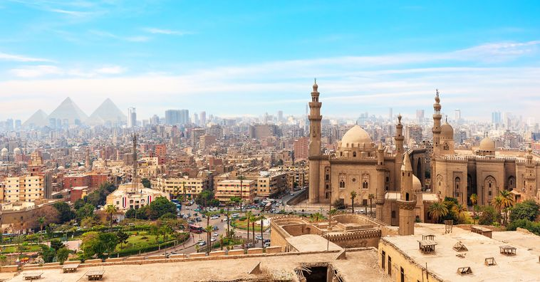 city scape of cairo in egypt during the day