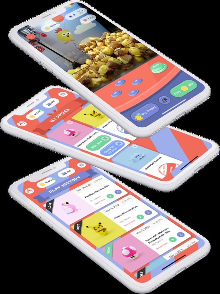 Winner Winner App on Stacked Phones