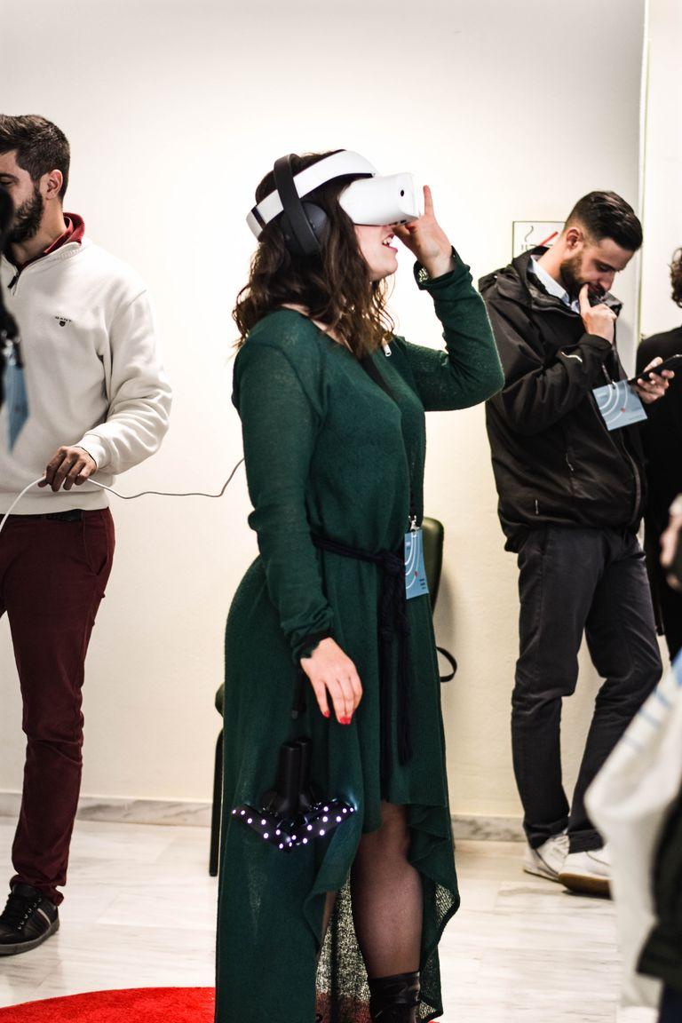 Women Using VR