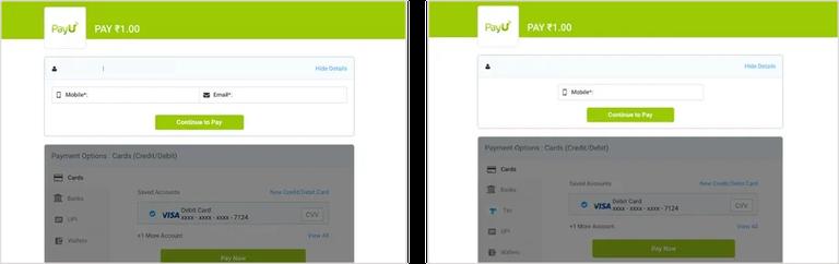 PayU Screen