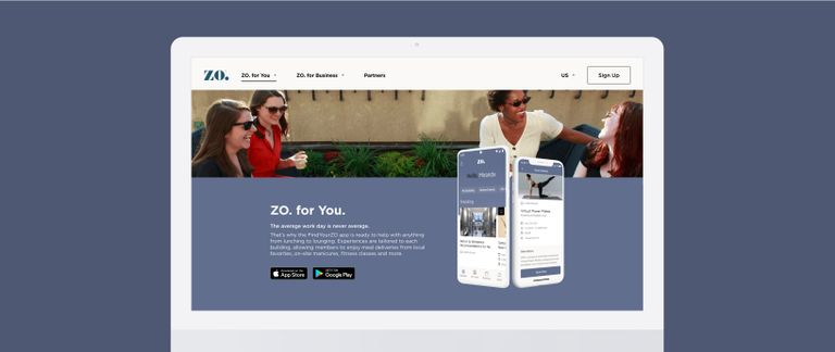 UI Design of the Zo App