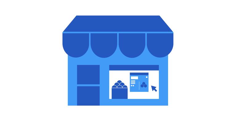 eCommerce window front