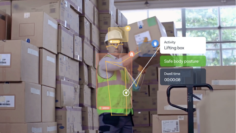 Person Lifting Box In AR