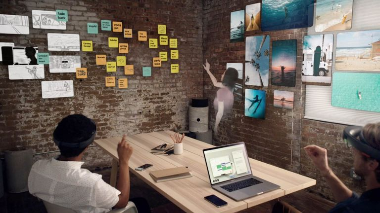 People Using AR in a Meeting