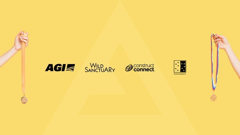 A picture showing the logos of AGI, Wild Sanctuary, Construct Connect, and Sensitile