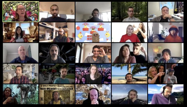 People In an Online Meeting
