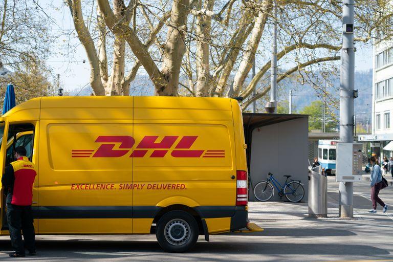 Yellow DHL Bus
