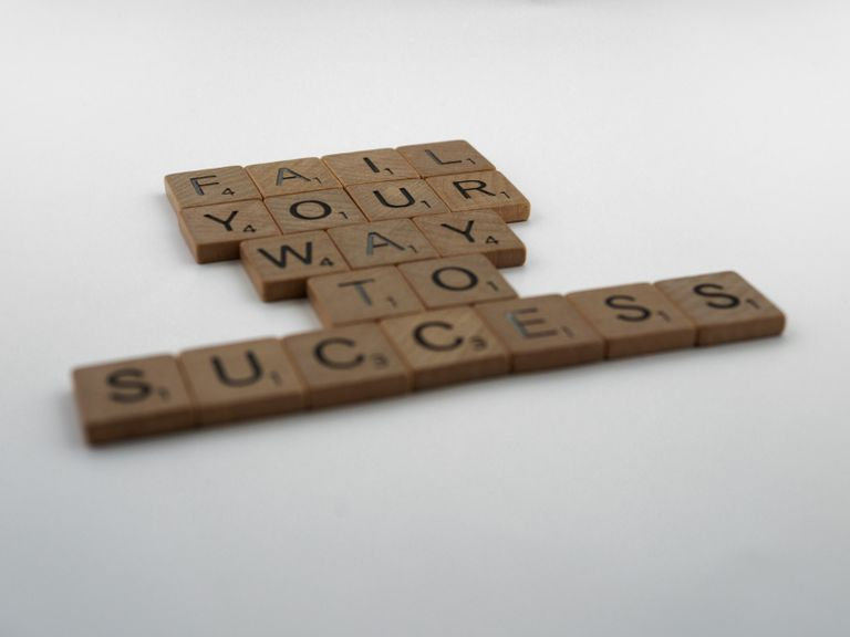 Fail your way to success written with scrabble tiles
