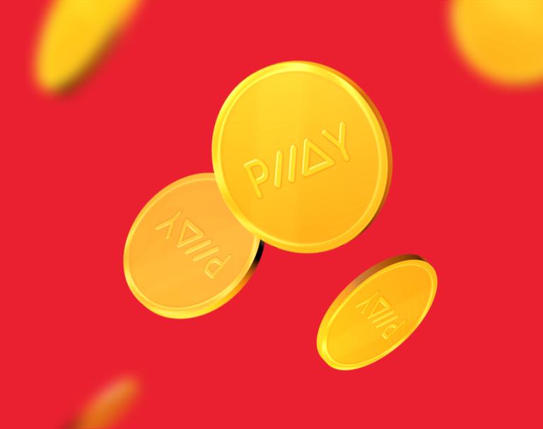 Visual representation of the digital PLLAY coins