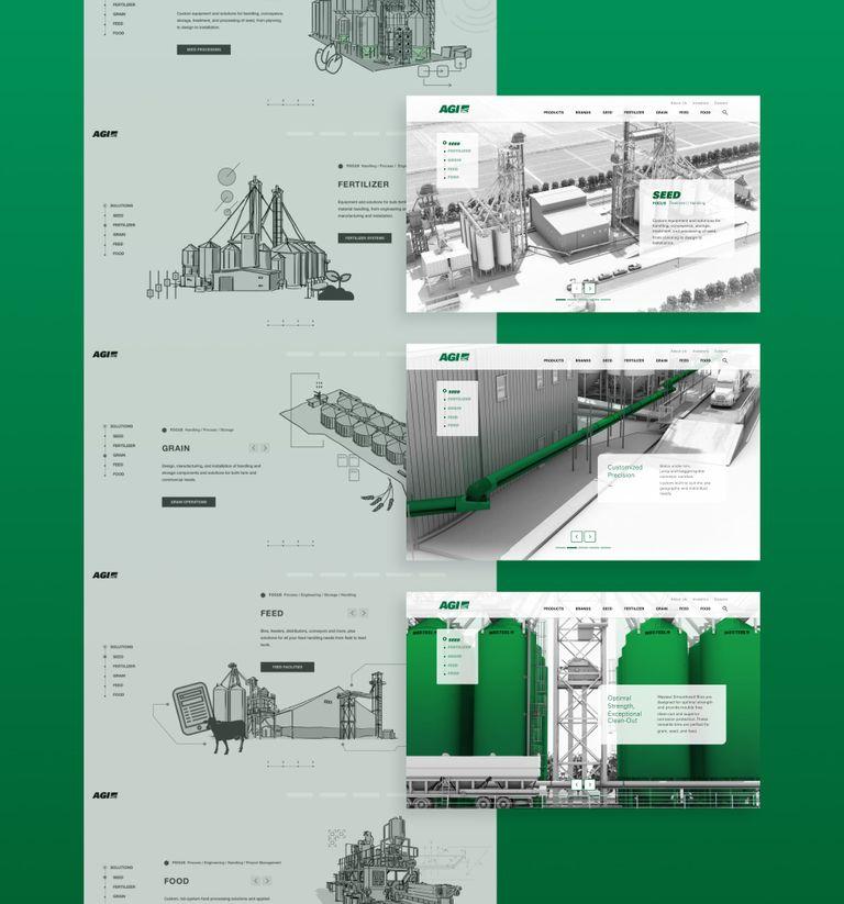 UI designs of the AGI website