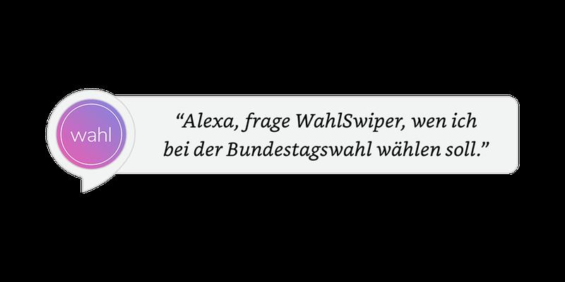 WahlSwiper Alexa Utterance