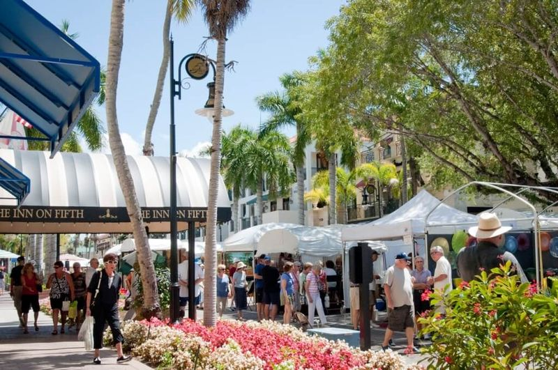 Shopping on 5th Avenue South in Naples, Florida