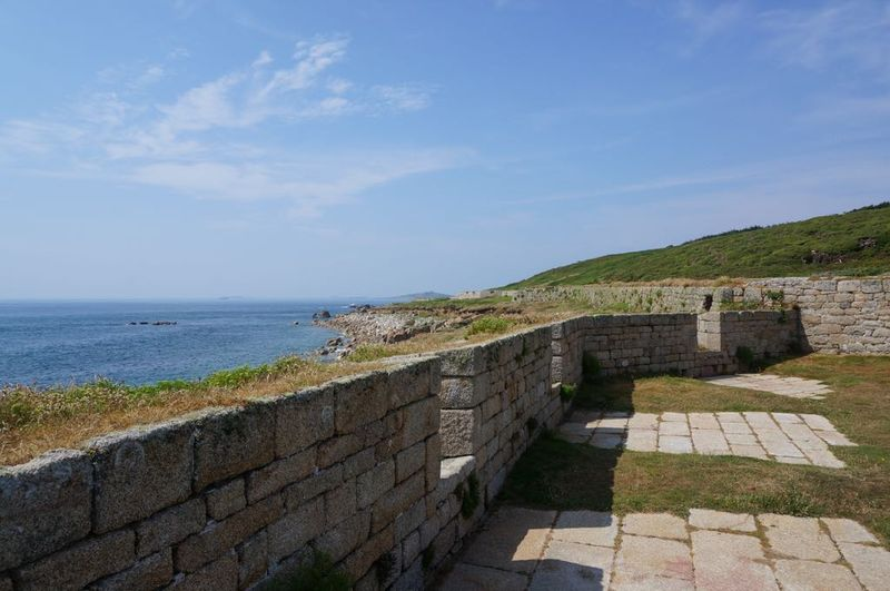 The garrison walls on St Mary's, Scilly