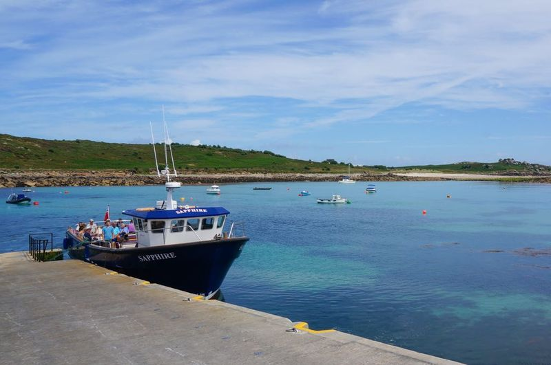 Small passenger boat on St Agnes Island