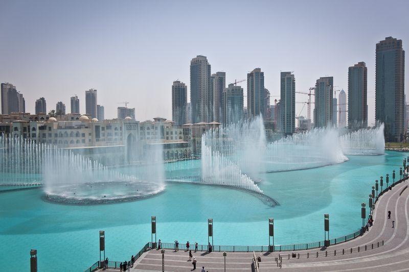 The Dubai Fountain Show on Burj Lake.