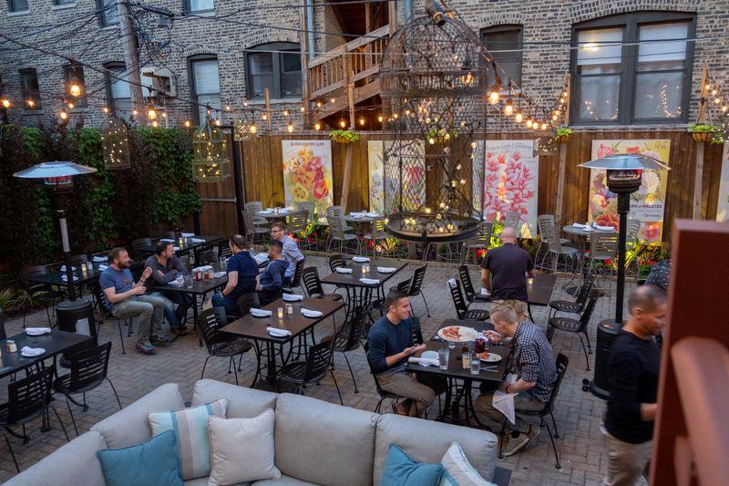 The patio of Lark restaurant in Chicago