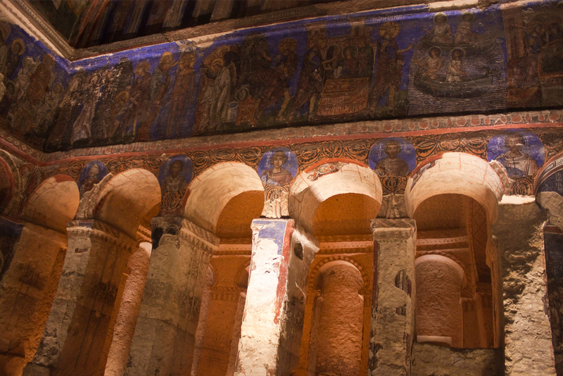Cave church in Cappadocia, Turkey