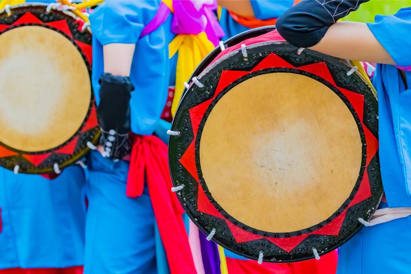 The Eisa (drum) festival in Okinawa, Japan