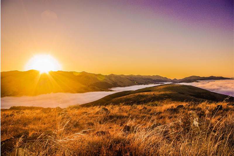 Sunrise over San Luis Obispo county