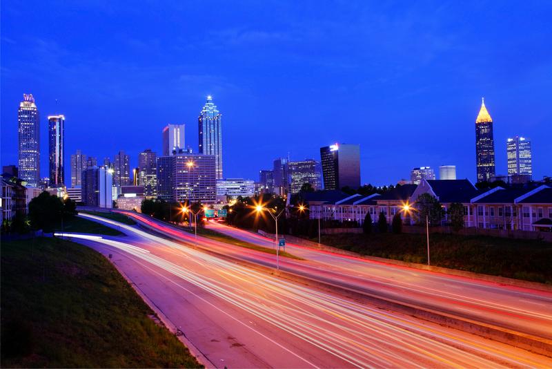 Traffic leading into downtown Atlanta