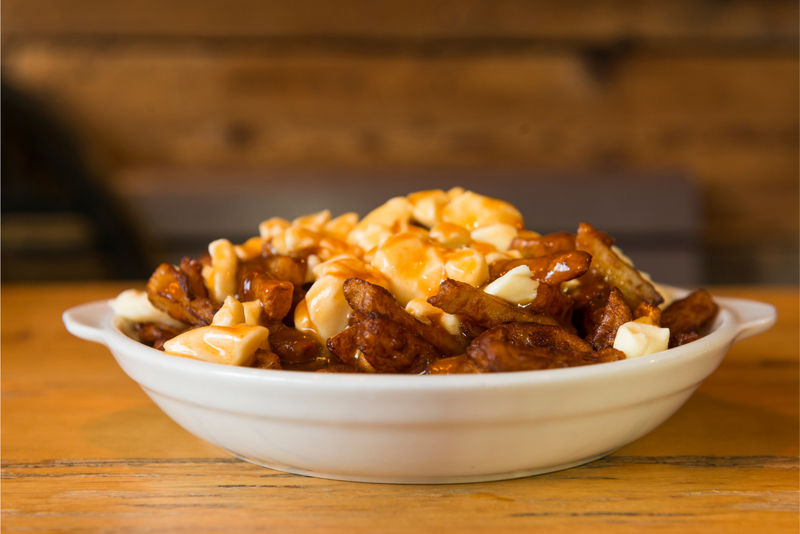 A dish of poutine in Montreal