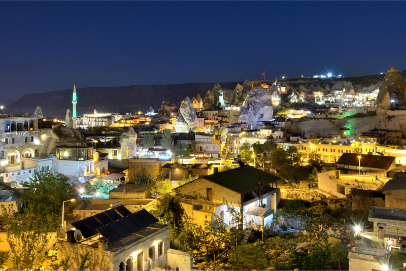The lights of Goreme at night