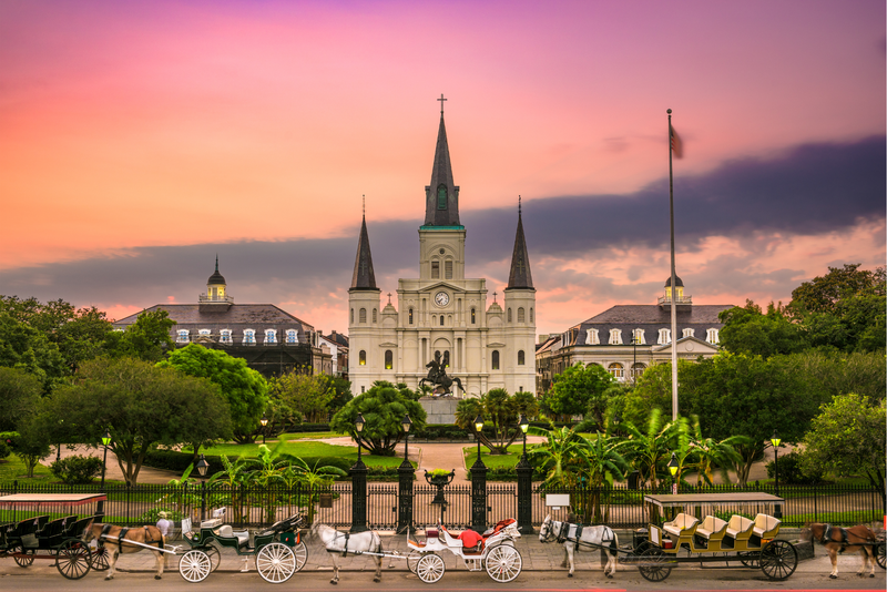 The historic Jackson Square in New Orleans