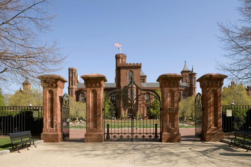 Entrance gates to the Smithsonian Institute Castle, Washington DC, USA