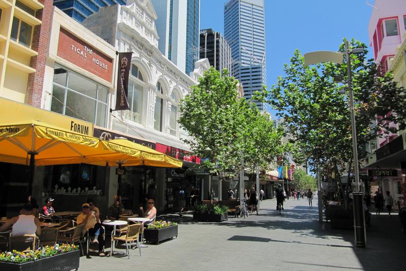 A summery street in Perth