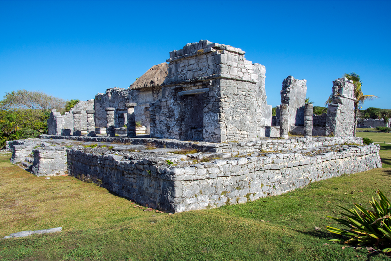 Ancient Mayan site of Quintana Roo in Tulum, Mexico.