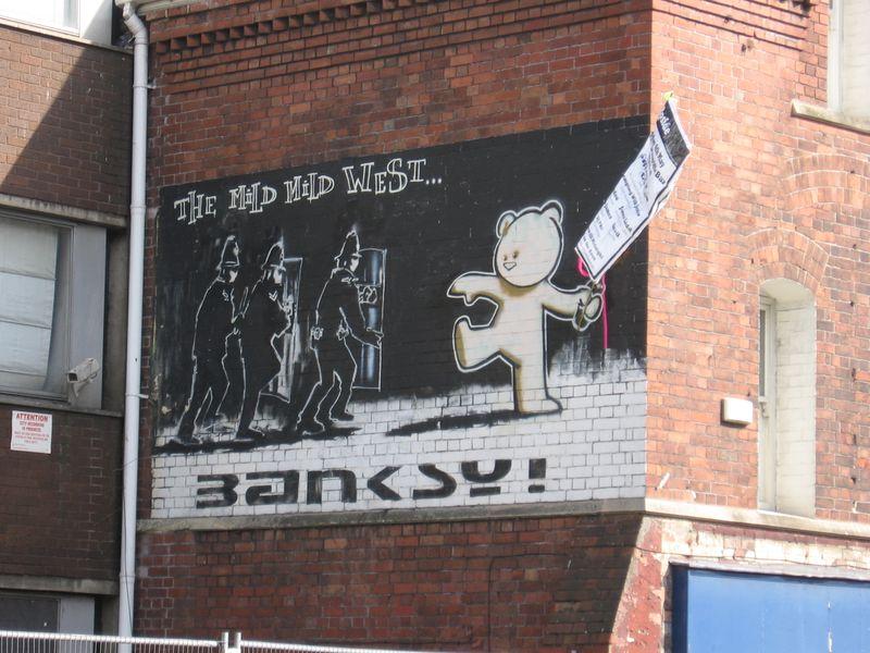 Banksy's Mild Mild West in Bristol
