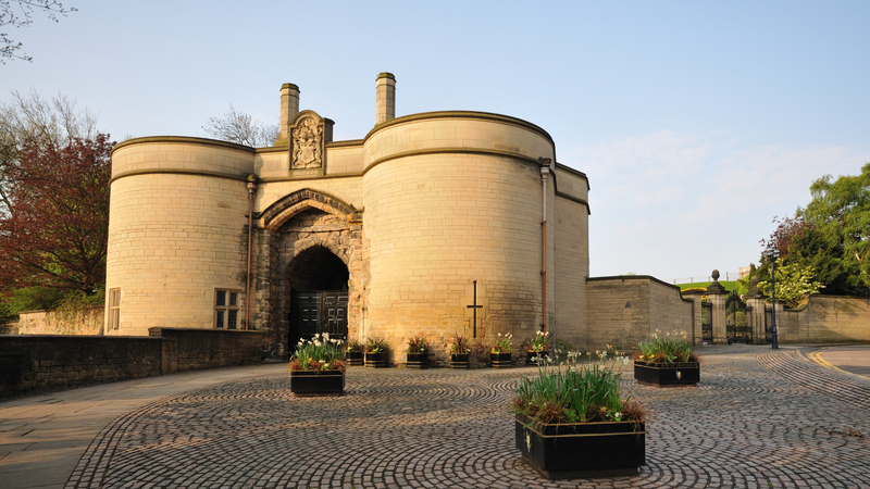 The gatehouse of Nottingham Castle