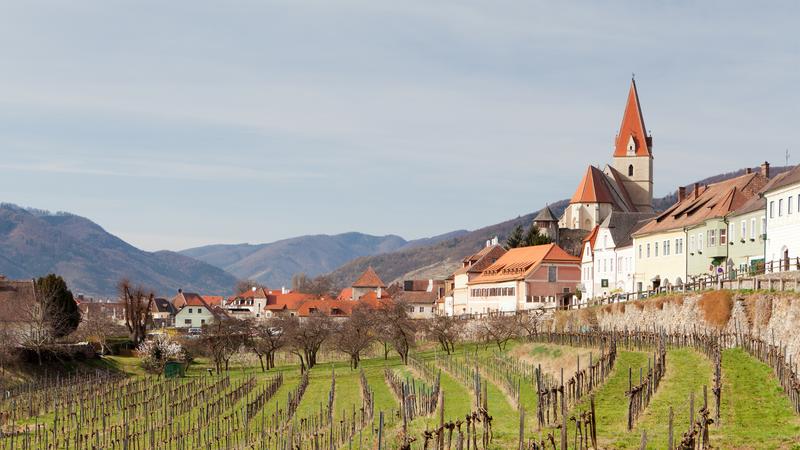 The lovely village of Weißenkirchen in der Wachau