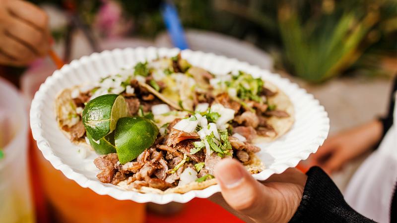 Tacos al Pastor in Mexico City, Mexico