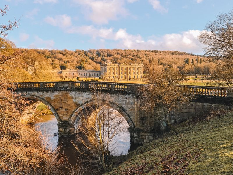 The historic Chatsworth House in Nottinghamshire