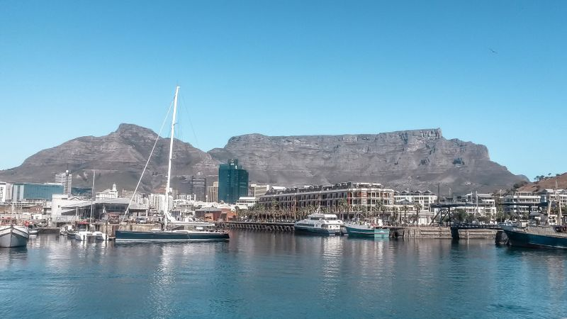 The V&A Waterfront with Table Mountain in the background