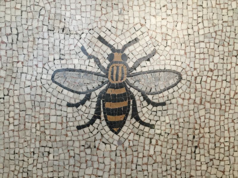 The worker bee emblem in Manchester