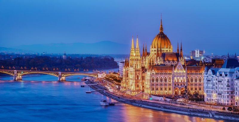 A view of the Parliament building in Budapest